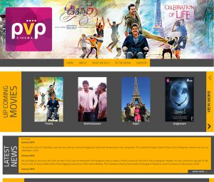 PVP Cinema Film Production Studio Website Design
